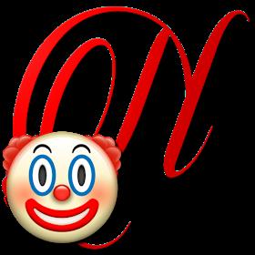Alphabets By Monica Michielin Clown Emoticon Emoji Alphabet Png Emoticon Emoji Alphabet