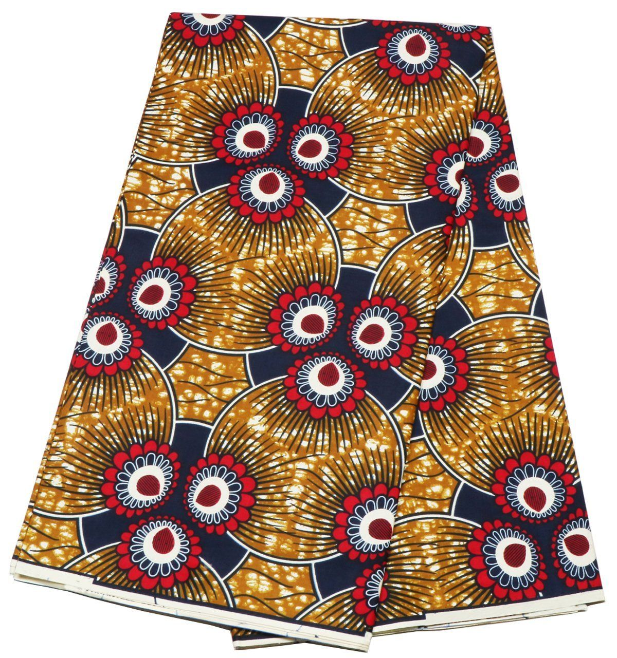 African Wax Print  Ankara Print Wrapper Head Wrap  by 6 yards