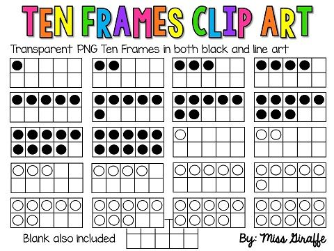 10 Frames Clip Art (Ten Frames clipart) | Ten frames ...