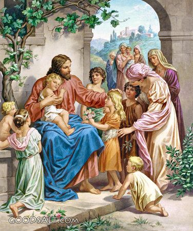 Jesus and Children - Standard Publishing's Classic Bible Art Collection