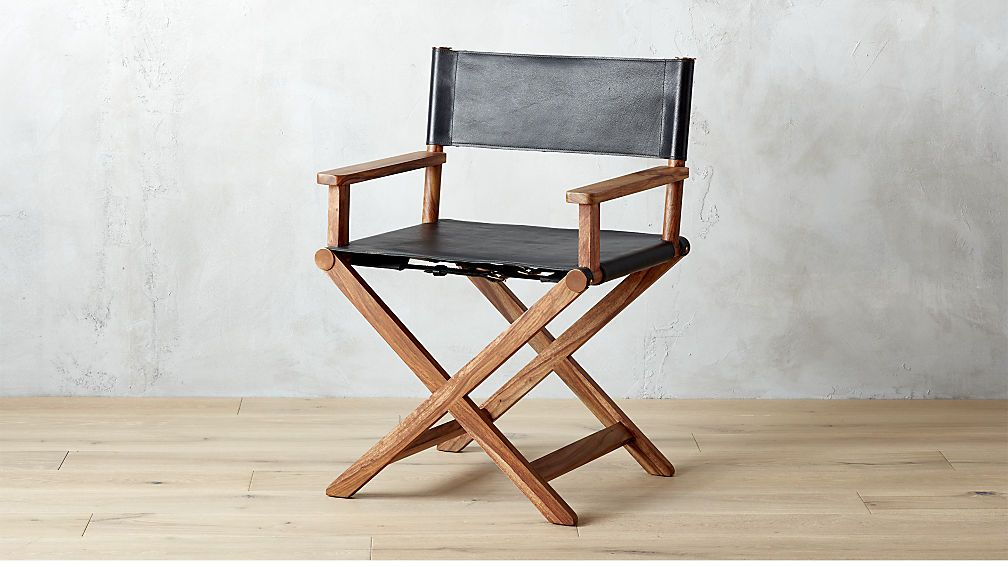 Curator Black Leather Director S Chair Cb2