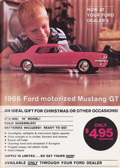 1966 Toy Ford Mustang Gt Ad Ford Mustang Mustang Mustang Gt