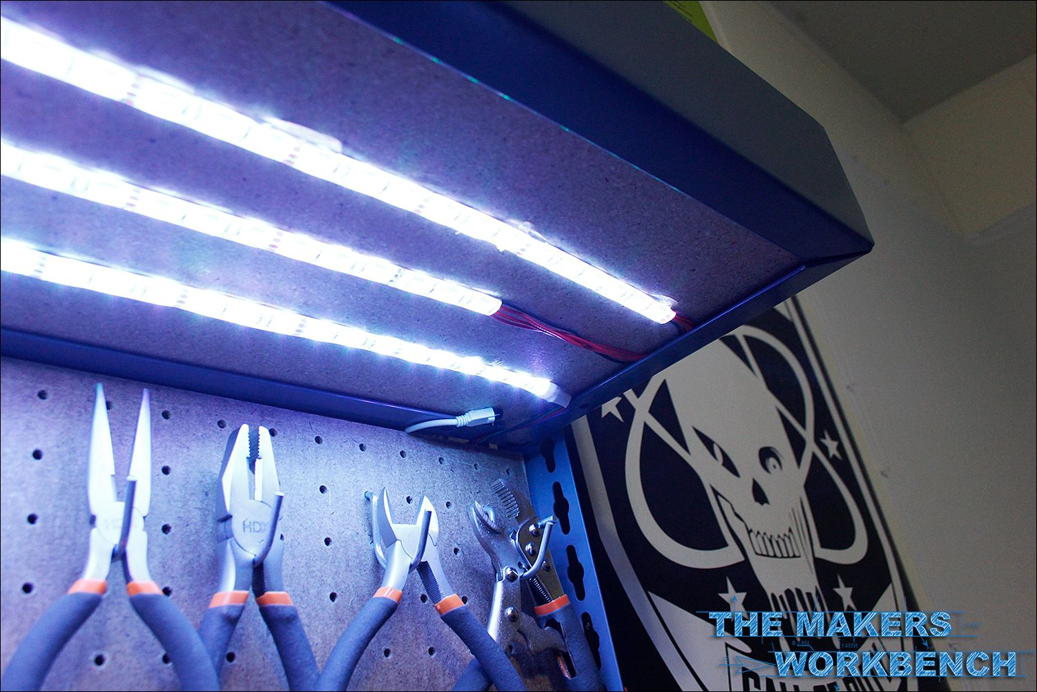 Rgb Led Under Shelf Bench Lighting The Makers Workbench Diy