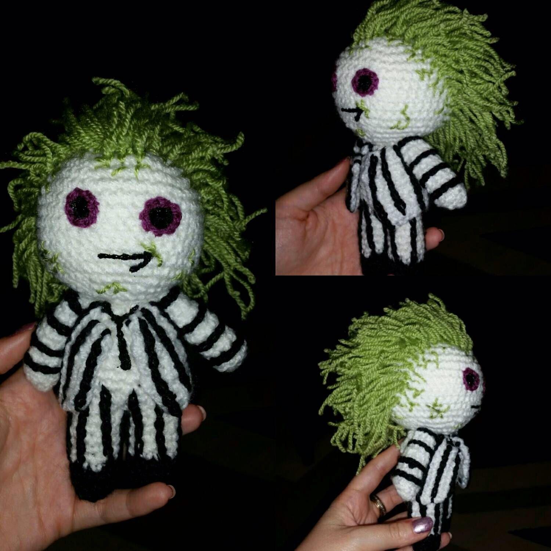 Amigurumi Zeitschrift Halloween : crochet doll Beetlejuice betelgeuse 6