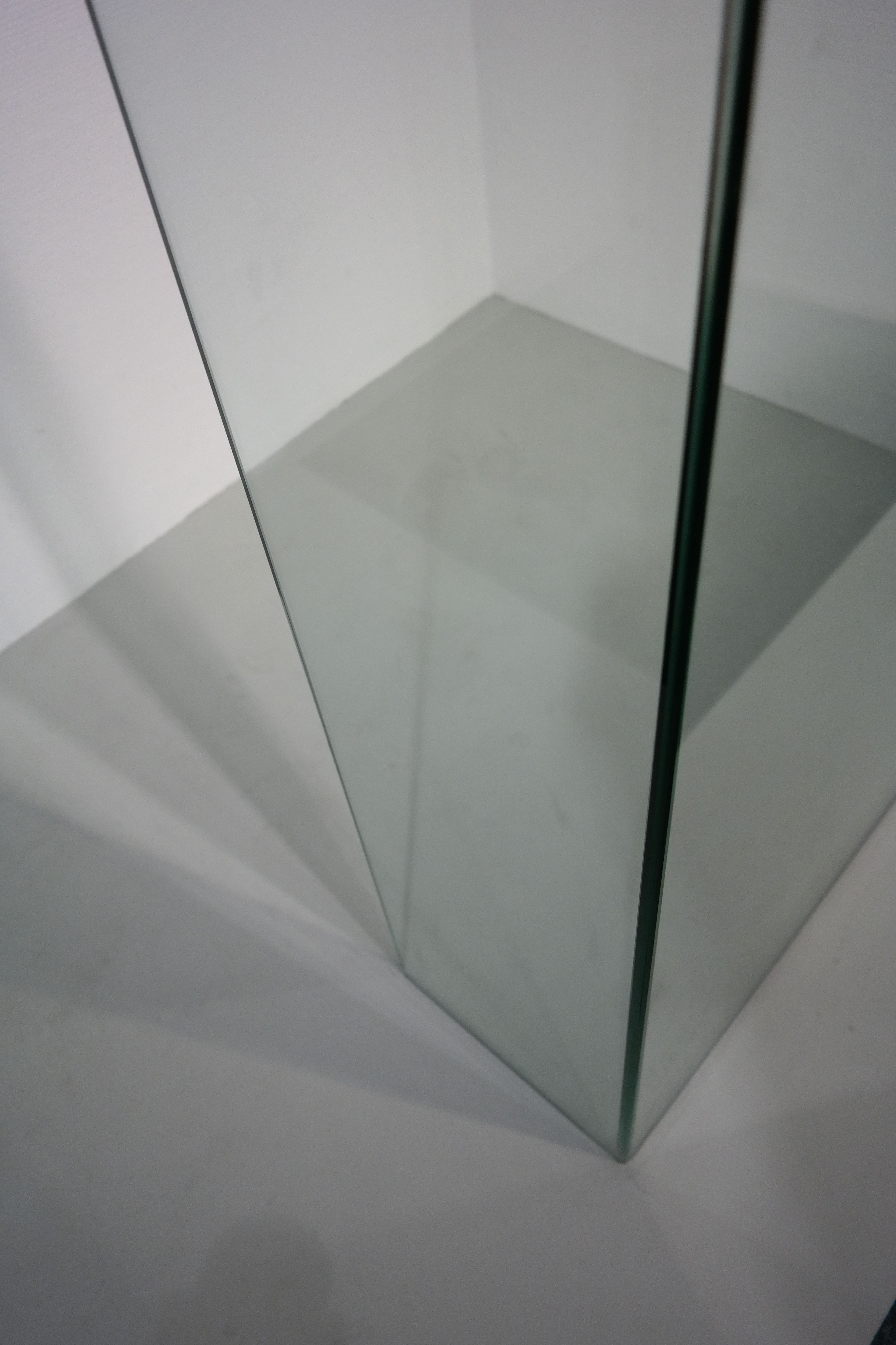 Douchewand Glas Hoek.Verstek Uv Verlijmde 90 Graden Hoek Glas Op Glas I Balance
