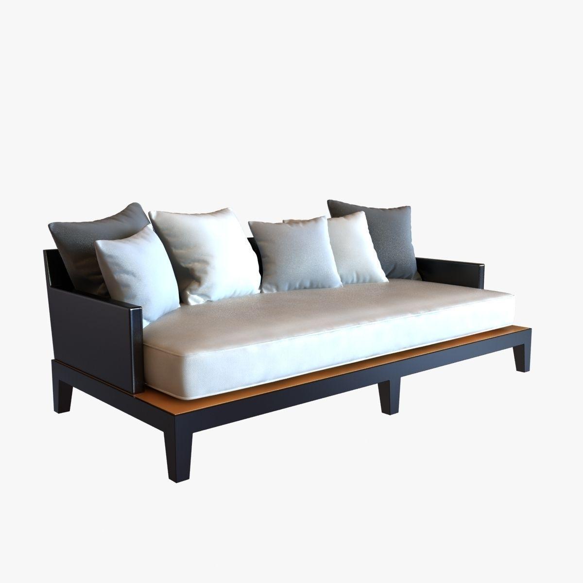 Christian Liaigre Sofa For Holly Hunt Opium 3d Model Max Obj 3ds Fbx Mtl 1