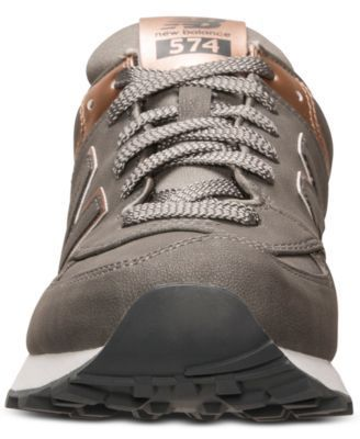 Silver and rose gold. Be still my heart. New Balance Women's 574 Precious Metals Casual Sneakers from Finish Line
