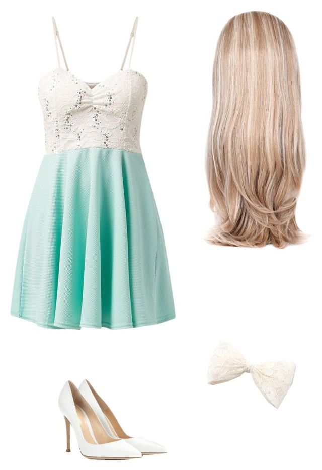 """Maybe Mint..."" by sweetwist ❤ liked on Polyvore featuring Cameo Rose, Gianvito Rossi and Lipsy"