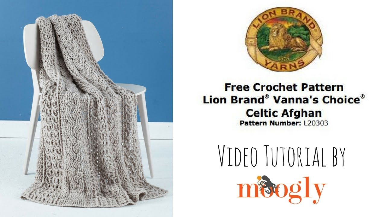 How to Crochet: Lion Brand Celtic Afghan | knit crochet LOVE | Pinterest
