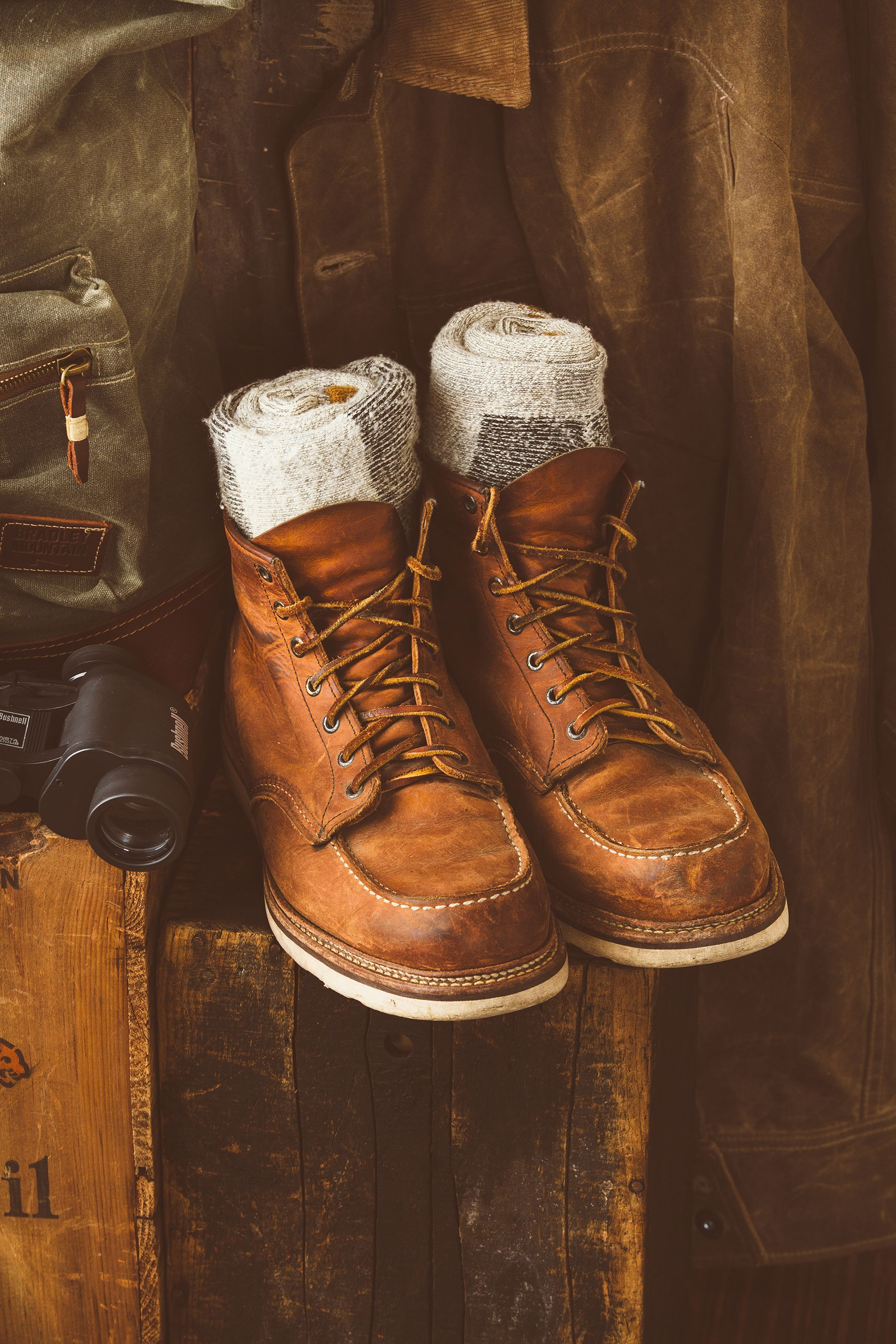 016fd3c61b2 My red wing moc toe boots. Well worn. Patina. Instagram ...