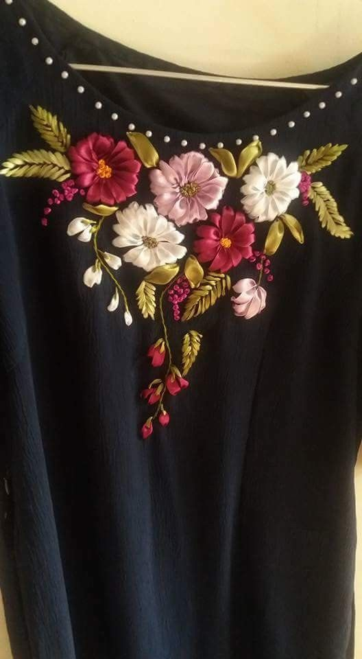 Pin By Easy Embroidery Designs On Silk Ribbon Embroidery Pinterest