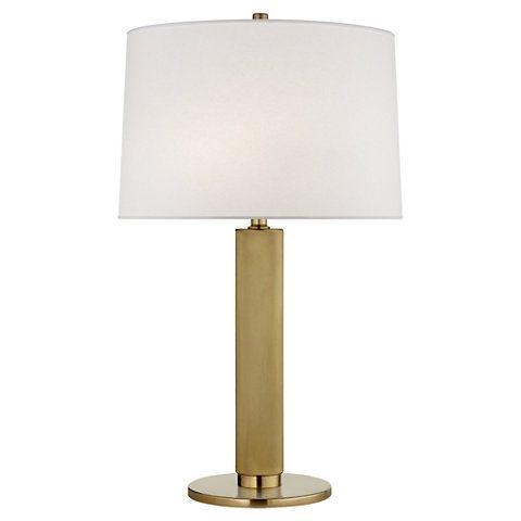 Barrett Medium Knurled Table Lamp In Natural Brass New Arrivals Lighting Products Ralph Lauren Home Ralphlaurenhome Brass Table Lamps Lamp Table Lamp