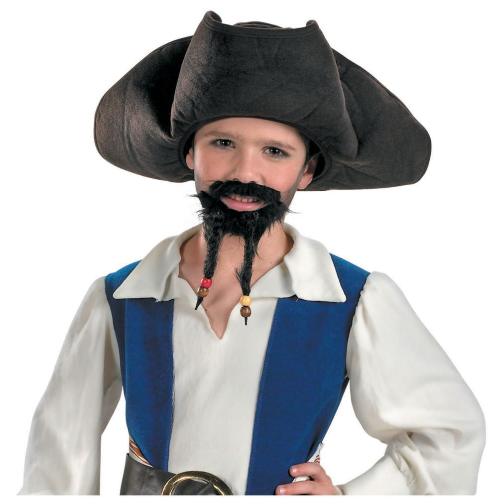 Hair Adults Caribbean Fancy Dress Mens Ladies Costume Accessory Hat Pirate Hat