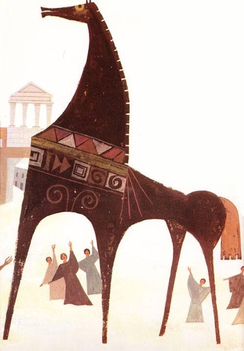 El Caballo De Troya Con Imagenes Arte De Ilustracion Arte