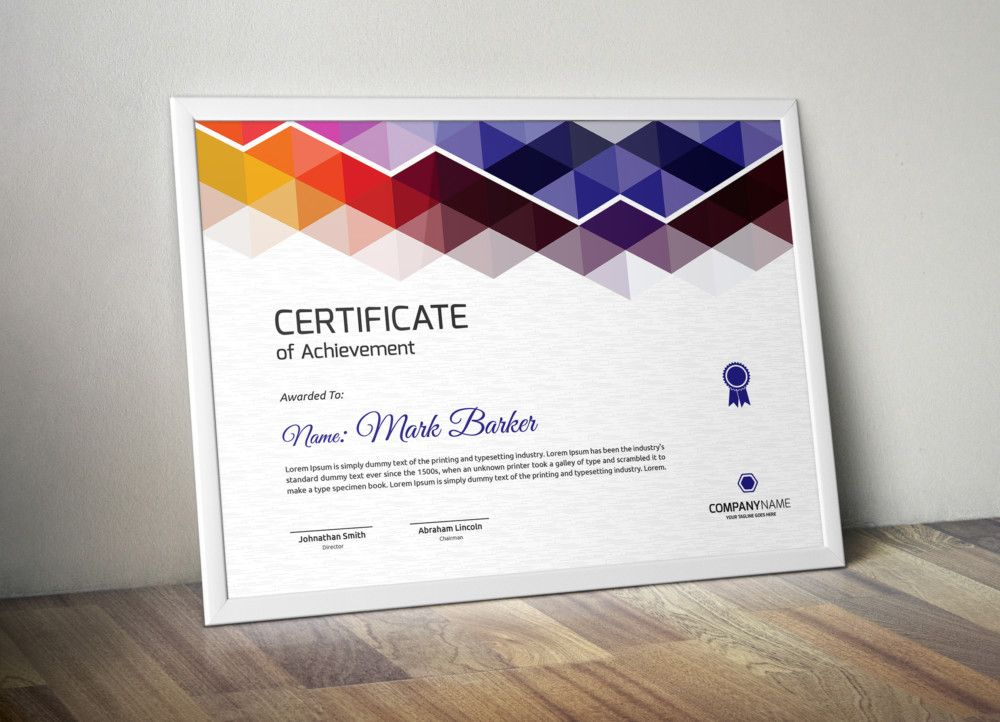 Print Ready Certificate of Attendance Template Certificate of