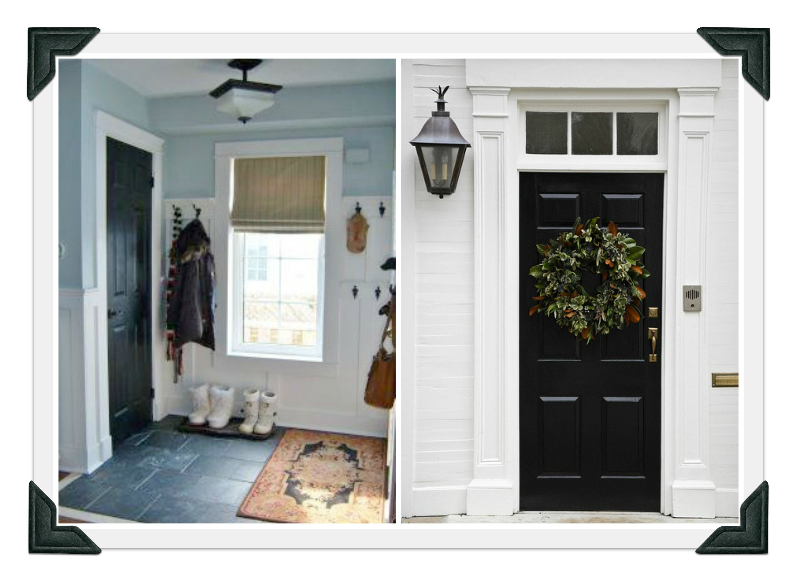 Merveilleux Glorious White Front Door Trim With Victorian Headers And Pilaster Column  For Black Doors Frames Added 3 Lite Glass Transom Windows In Entry Areas ...