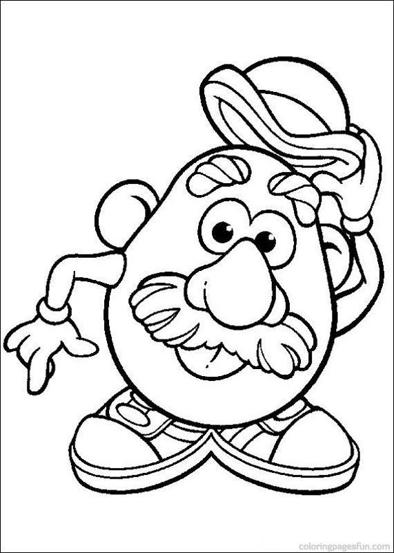 mr potato head coloring pages # 9
