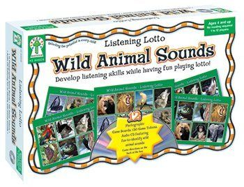 Game Wild Animal Sounds -- Case of 2 . $19.33. Game Wild Animal Sounds by CARSON DELLOSA. Save 40% Off!