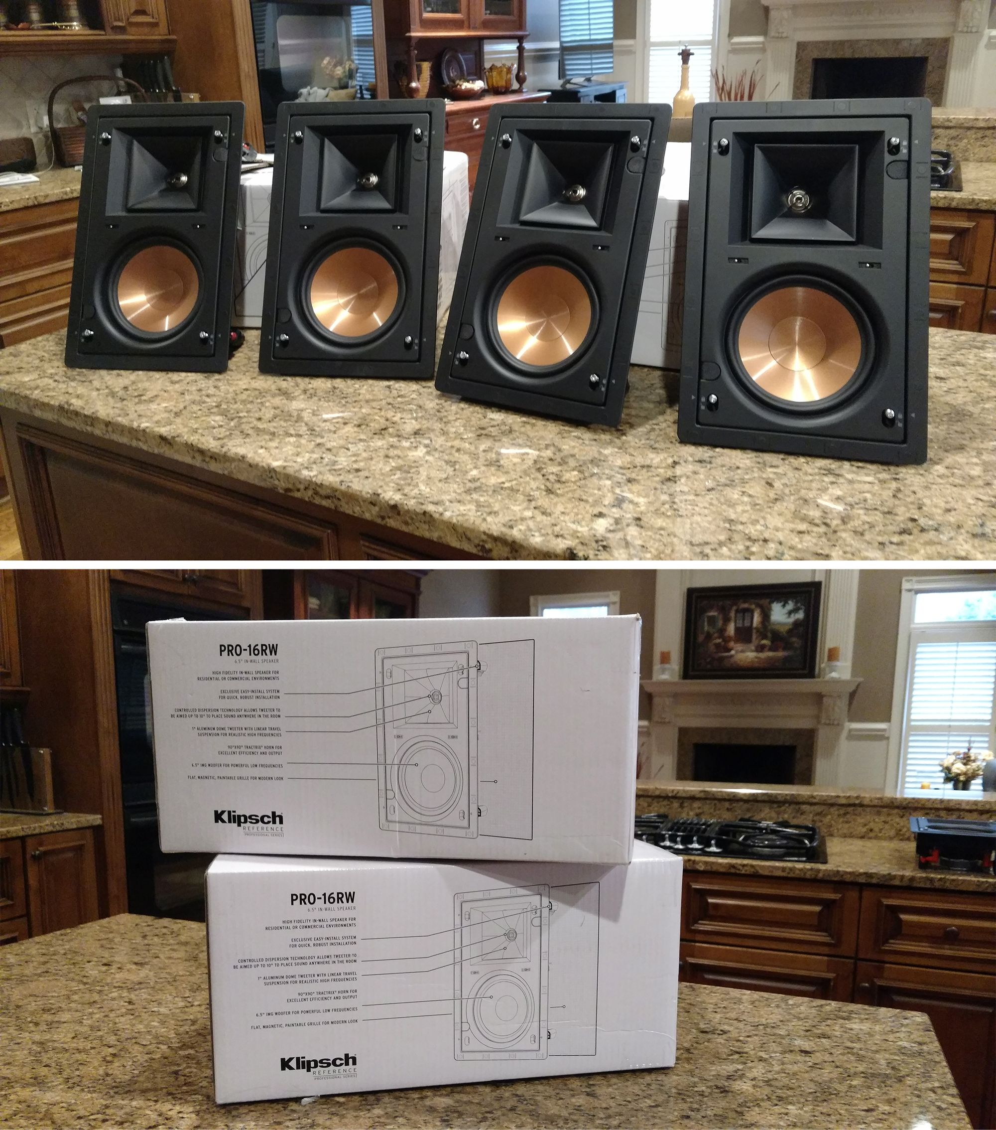 hight resolution of klipsch pro 16 rw in wall speakers for 299 99 at grand central wiring in greenville sc call 864 881 1675
