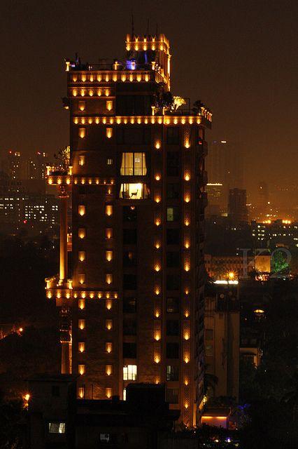 """Della Tower on """"Holi Festival"""" night."""