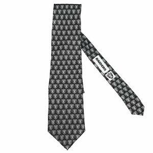 Oakland Raiders Repeat Logo Silk Tie - Julio