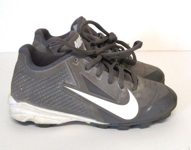 Nike Vapor Keystone Graphite Boys 11C Grey White Baseball Cleats Shoes Gray