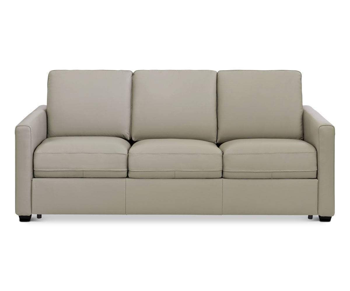 Jonas Leather Queen Sleeper Sofa Beige Ms 5652 In 2020 Sleeper Sofa Leather Sofa White Leather Sofas