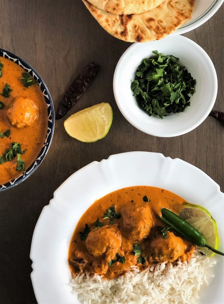 Malai Kofta - Meatless Meatballs in Creamy Indian Spiced Sauce Malai Kofta - Meatless Meatballs in Creamy Indian Sauce -