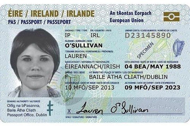 Where can i use irish passport cards