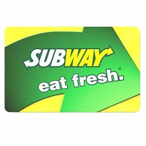 $10 Subway Gift Card