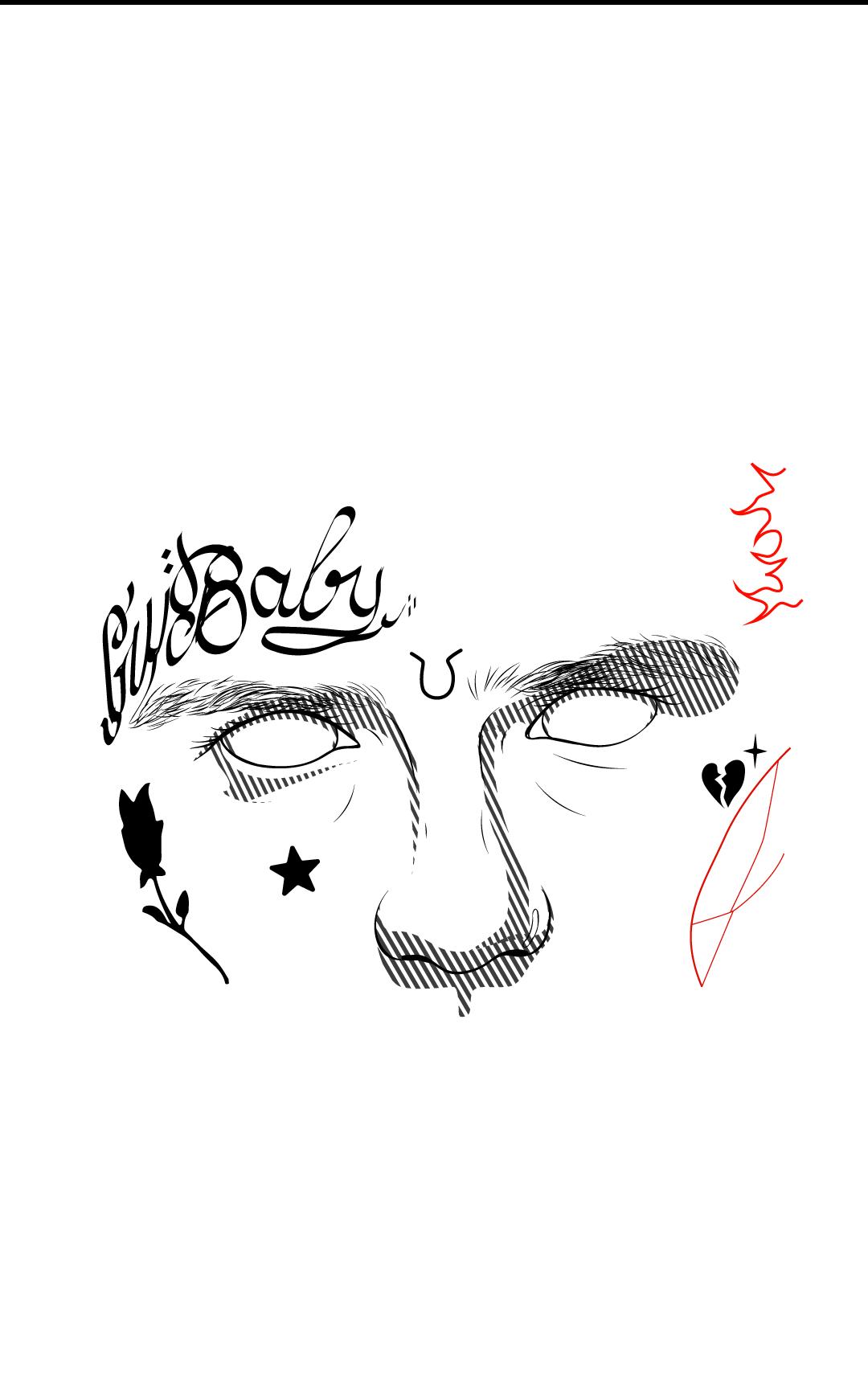 Lil Peep Lil Peep Tattoos Lil Peep Hellboy Rapper Art