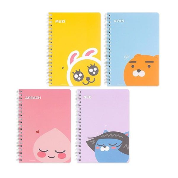 Kakao Friends Notebook Paper B Cute Note School Office Diary Memo