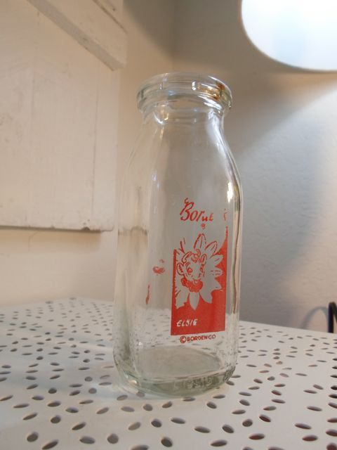 Elsie The Cow Borden Glass Milk Bottle Vintage Milk Jug 8 00 Via Etsy Vintage Milk Bottles Elsie The Cow Milk Bottle