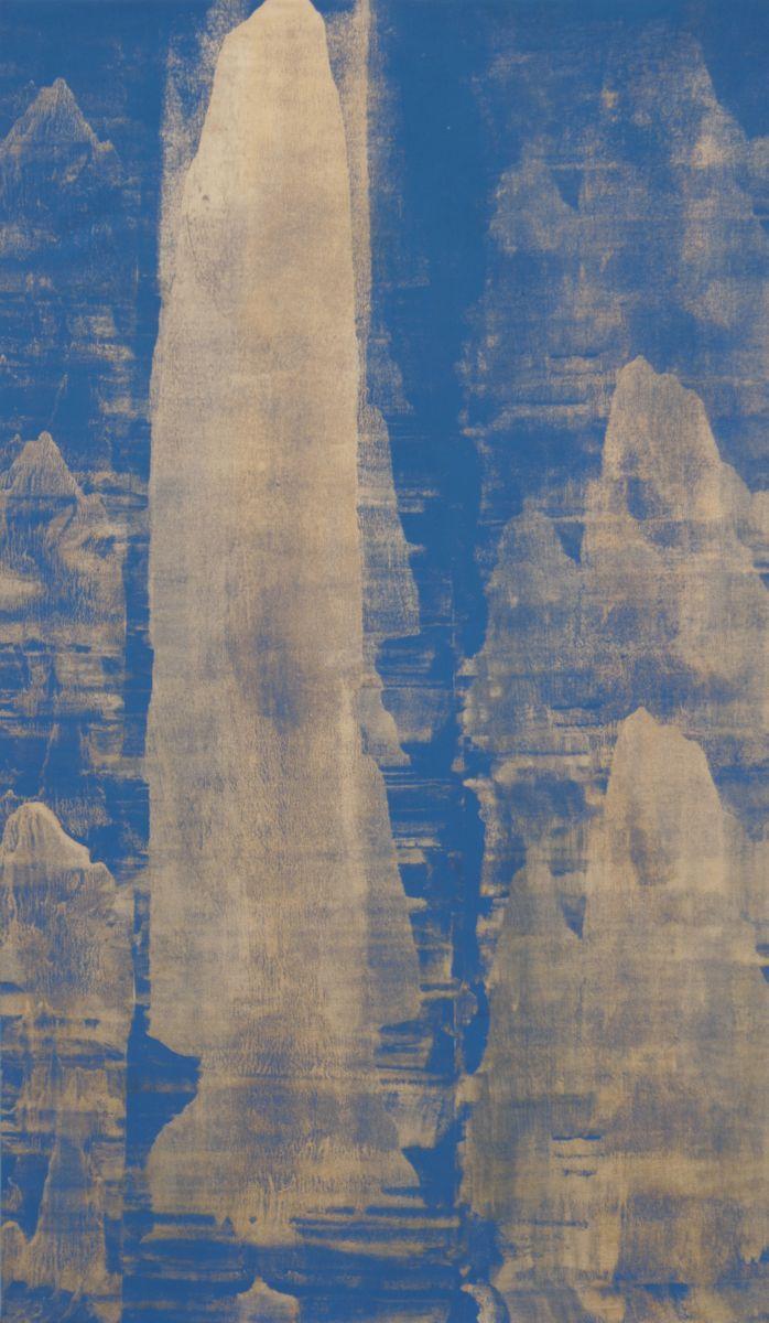 Patrik Habl - Mountain, 2013, acrylic on canvas, 120 x 70 cm
