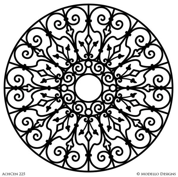 Architectural Design and Decor with Large Circle Medallion ...