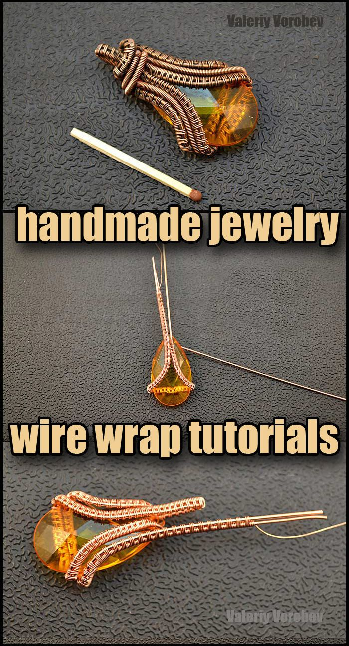 Photo of Wire wrap tutorial. How to Make Wire Wrapped pendant.
