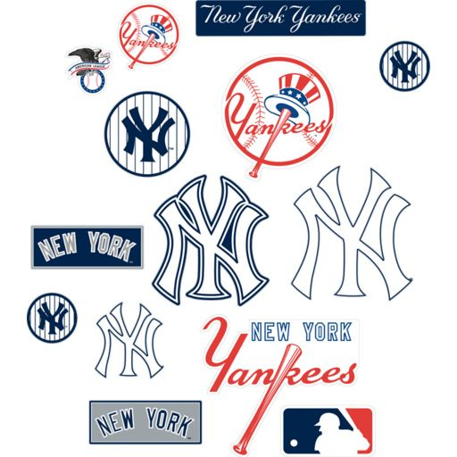 New York Yankees Logo Assortment Large Officially