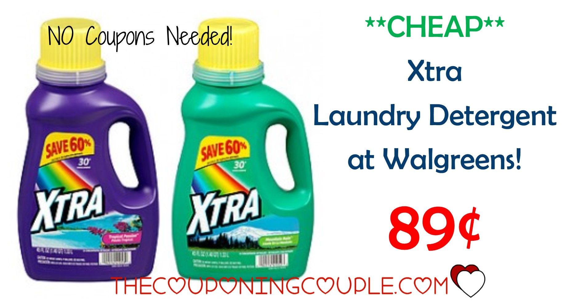 Cheap Xtra Detergent Walgreens Only 1 33 Xtra Detergent
