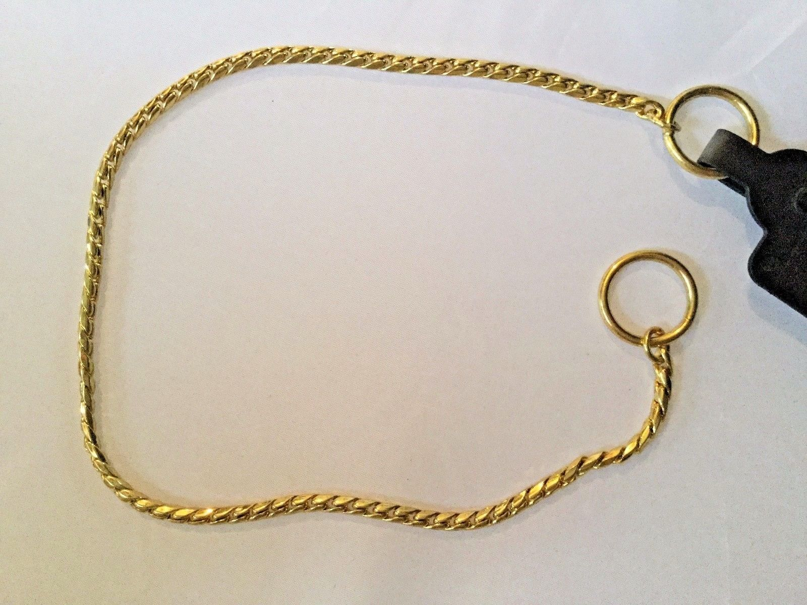 Gold Snake Chain Show Choke Collar Dog Fine Weight 3 Lengths NEW Hexagon Pup