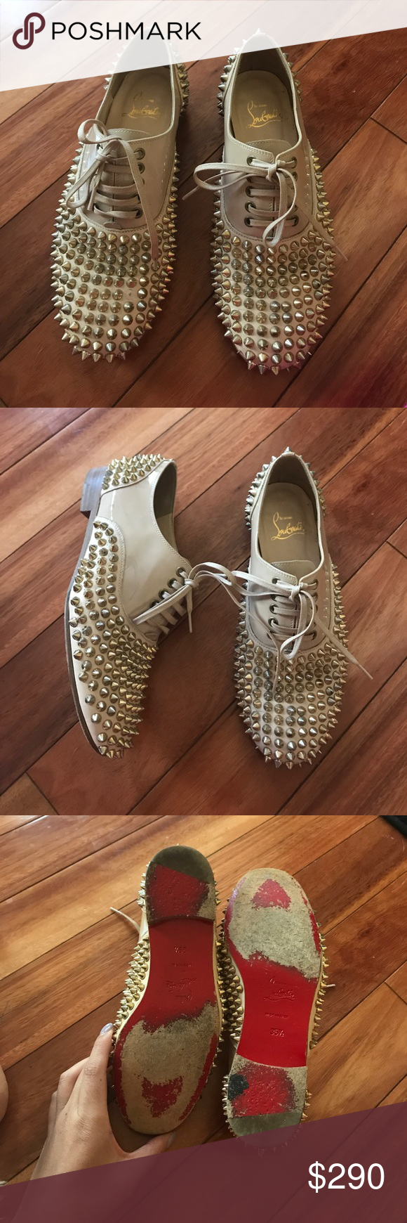 47a9ee01bf48 Christian Louboutin Freddy Studded Oxford Loafers Still in great condition  100% authentic loafers by Christian