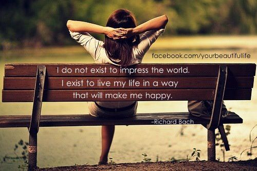 i do not exist to impress the world....