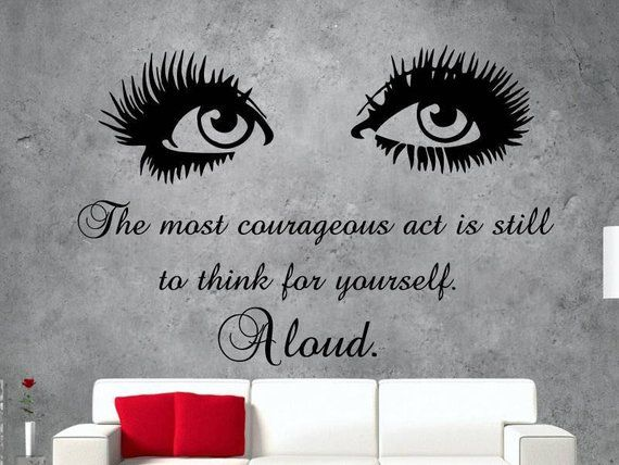 73e674b4272 Wall Decal Eyes - Beauty Salon Decor - Make Up Fashion Cosmetics - Quote  Vinyl Stickers - Wall Mural
