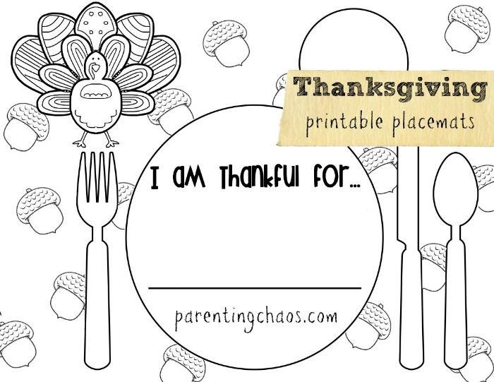 Teaching Toddlers Thankfulness Thanksgiving Worksheets Thanksgiving Placemats Kids Thanksgiving Placemats