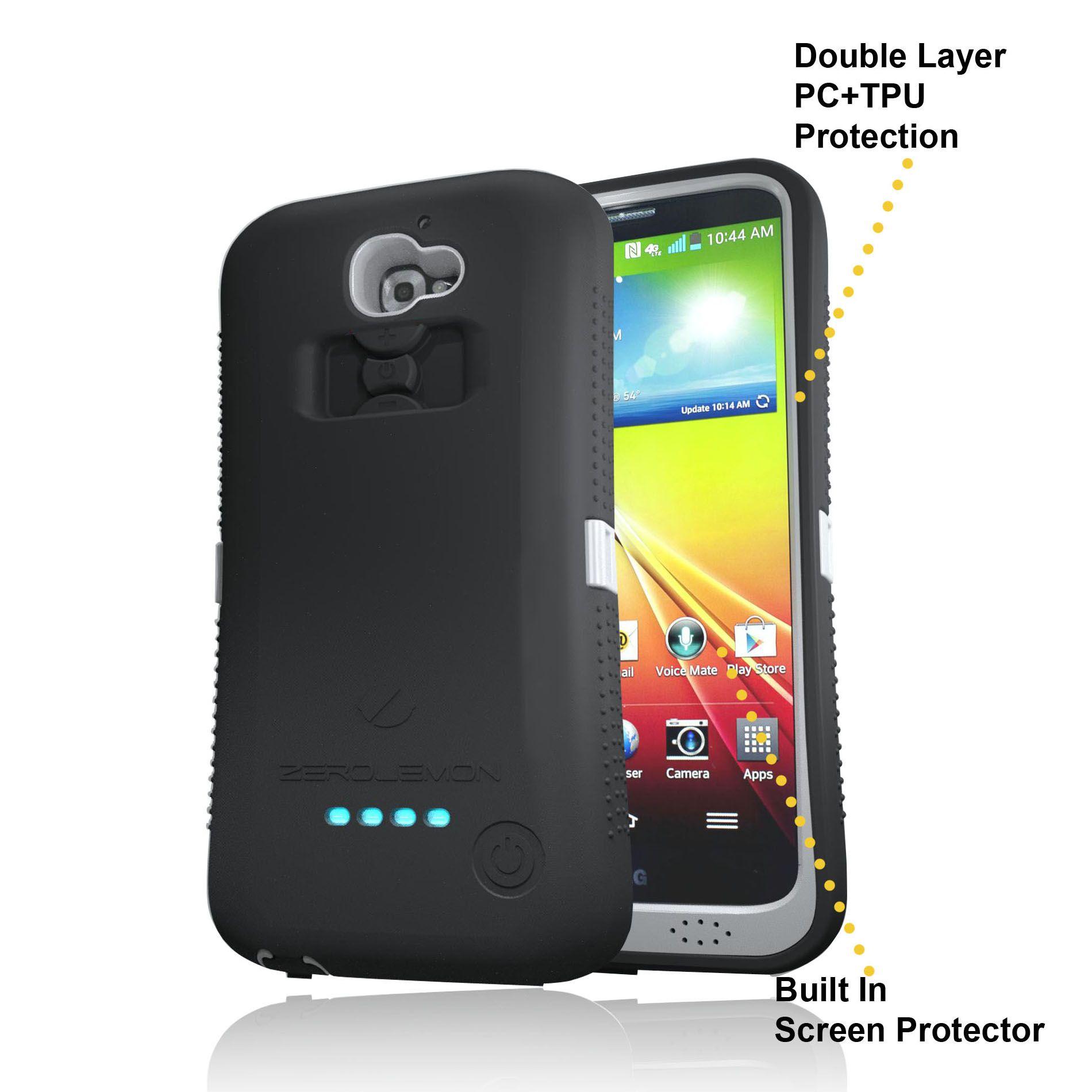 finest selection 1feee 35234 ZeroLemon ZeroShock Gray/Black Dual Layer Rugged Case + Screen ...