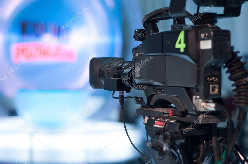 Television studio camera Stock Photo , spon, studio,