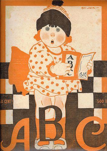 Revista ABC, número 52, ano II, 7 de Julho de 1921 Capa de Stuart Carvalhais (1887-1961)