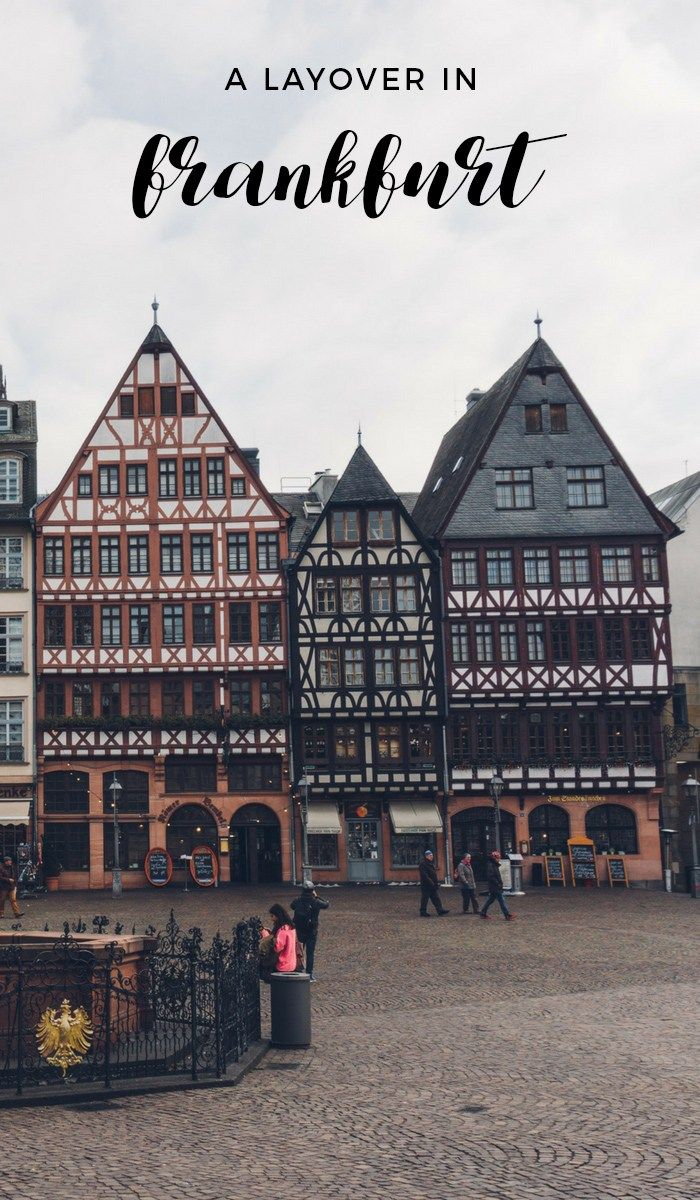 How easy is it to visit Frankfurt during your layover? It's actually very easy, AND totally worth it.