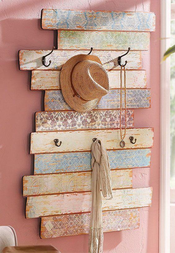 Praktische pastell Garderobe im shabby-chic Look!