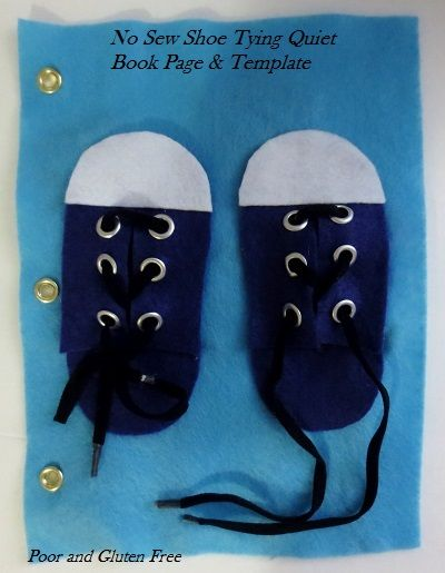 An Easy Tutorial And Template For A Shoe Lace Tying No Sew Quiet Book Page