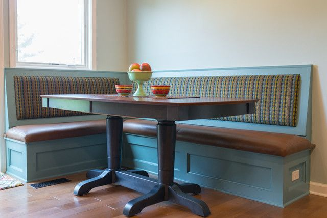 Blue Wood Kitchen Table With Bench Seating Dining Table With
